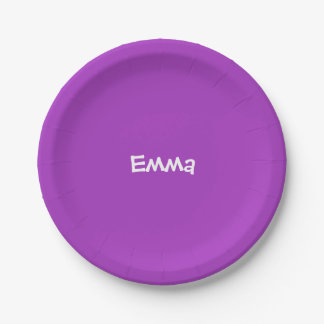 Dark Orchid Personalized Paper Plate