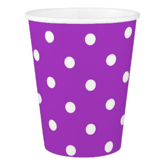 Dark Orchid Polka Dot Party Cups