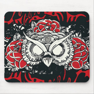 Dark owl Mousepad