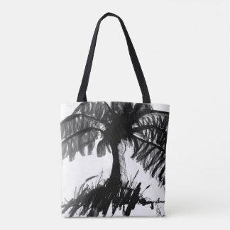 Dark Palm Tote Bag