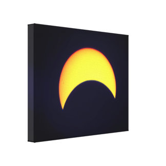 Dark Partial Solar Eclipse Canvas Print