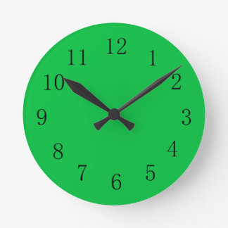 Dark Pastel Green Wall Clock