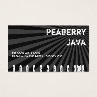 Dark Peaberry Java Drink Punch Card