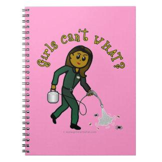 Dark Pest Control Girl Note Book