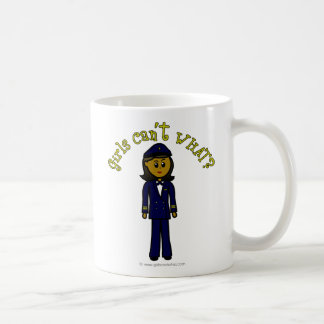 Dark Pilot Girl Basic White Mug