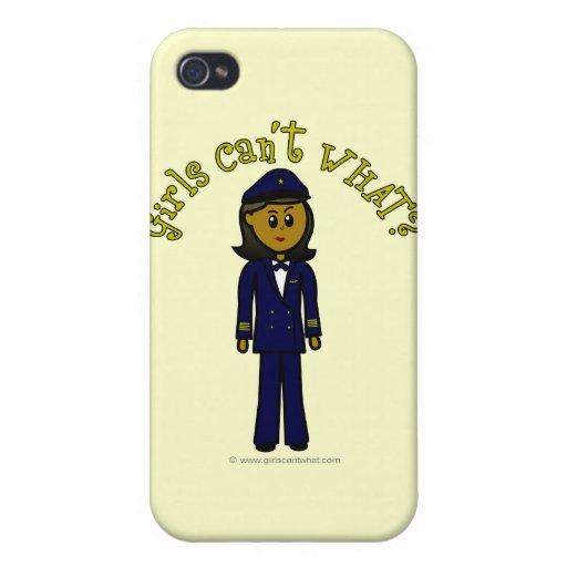 Dark Pilot Girl Case For iPhone 4