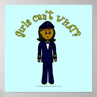 Dark Pilot Girl Poster