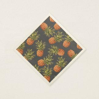 Dark Pineapple Paper Cocktail Napkins Paper Napkins