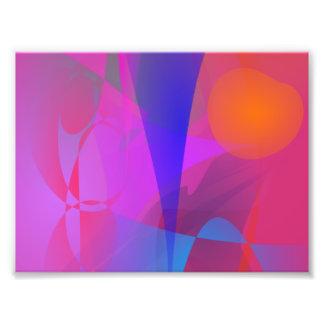 Dark Pink and an Apple Art Photo