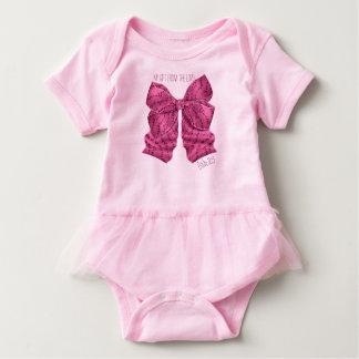 Dark Pink Bow Tutu Bodysuit