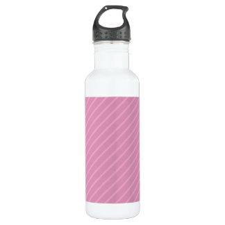 Dark Pink Diagonal Stripes. Pattern. 710 Ml Water Bottle