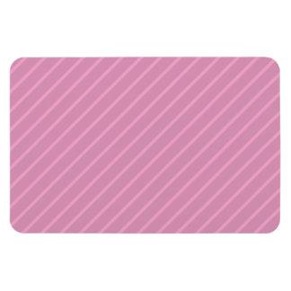 Dark Pink Diagonal Stripes. Pattern. Rectangular Magnets