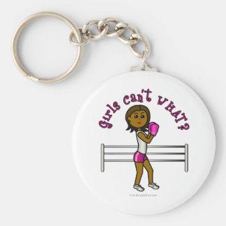 Dark Pink Female Boxer Keychains