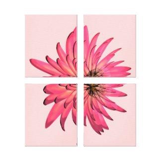 Dark Pink Floral Illustration Wrapped Canvas Art Canvas Prints