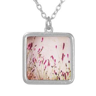 Dark Pink Garden Wildflowers Pendants