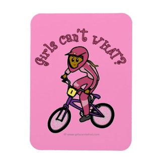 Dark Pink Girls BMX Rectangular Photo Magnet