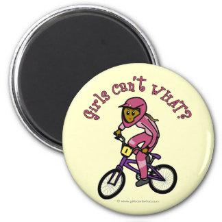Dark Pink Girls BMX Refrigerator Magnets