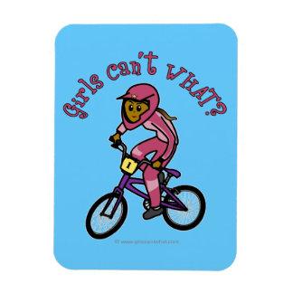 Dark Pink Girls BMX Flexible Magnets