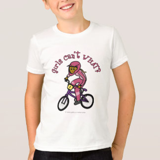 Dark Pink Girls BMX T-Shirt