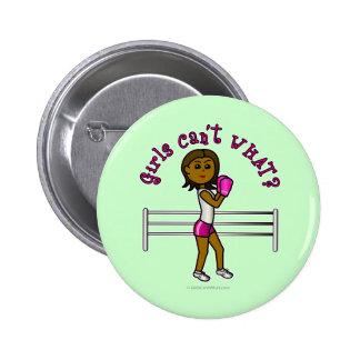 Dark Pink Girls Boxing Pins