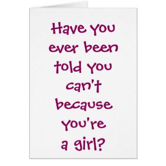 Dark Pink Girls Boxing Greeting Card