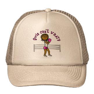 Dark Pink Girls Boxing Trucker Hats