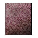 Dark pink grunge damask wallpaper iPad case