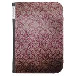 Dark pink grunge damask wallpaper kindle cover
