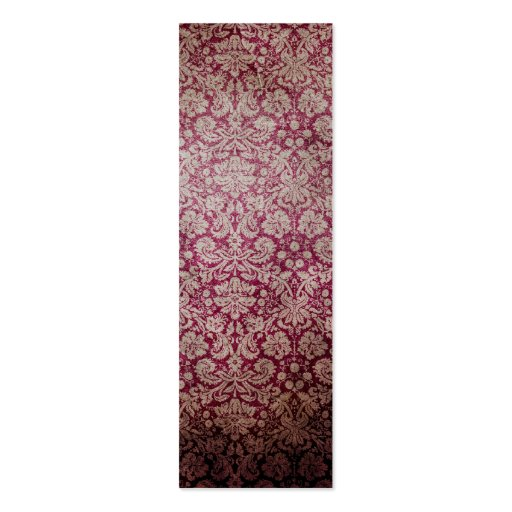 Dark pink grunge damask wallpaper pack of skinny business cards