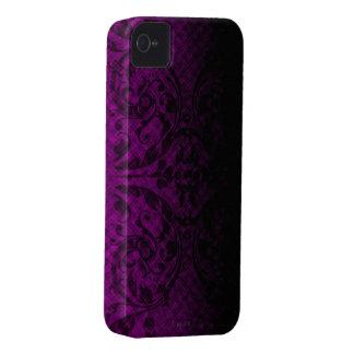 Dark Pink Grunge Floral iPhone4 Case iPhone 4 Case-Mate Case