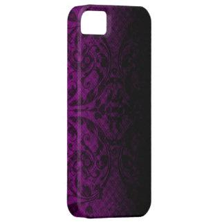 Dark Pink Grunge Floral iPhone4 Case