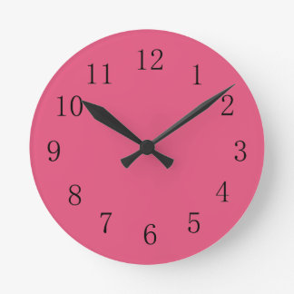Dark Pink Kitchen Wall Clock