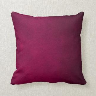 Dark Pink Leather Plush Throw Pillow