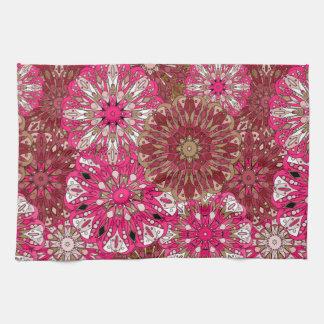Dark Pink Mandala design | Indian motif Tea Towel