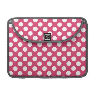 Dark Pink Polka Dots MacBook Pro Sleeve