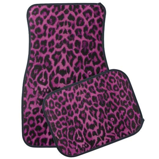 Dark Pink Purple Leopard Animal Print Car Mats Car Mat