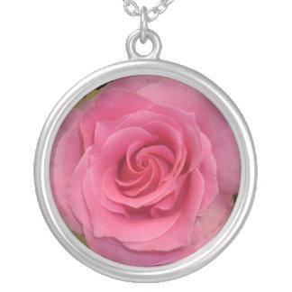Dark Pink Rose Necklace
