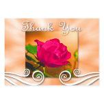 Dark Pink Rose Thank you Business Card