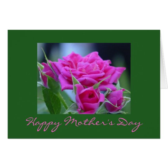 Dark Pink Roses Happy Mother's Day Card