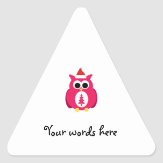 Dark pink santa owl sticker