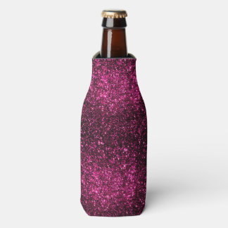 Dark Pink Sparkles Bottle Cooler