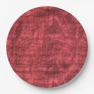 Dark Pink Textured 9 Inch Paper Plate