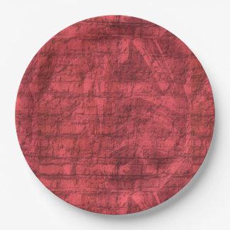 Dark Pink Textured Paper Plate