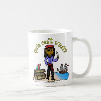 Dark Pirate Girl Basic White Mug