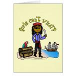 Dark Pirate Girl Cards