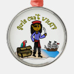 Dark Pirate Girl Christmas Tree Ornaments