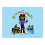 Dark Pirate Girl Post Cards