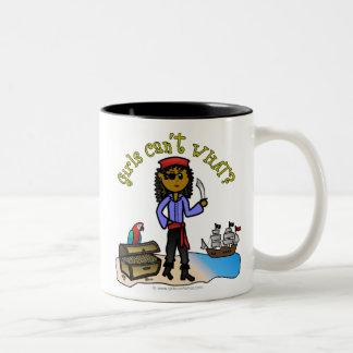 Dark Pirate Girl Two-Tone Mug