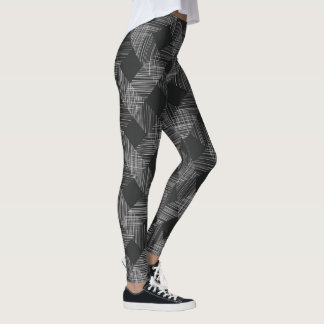 Dark Plaid Pattern Leggings