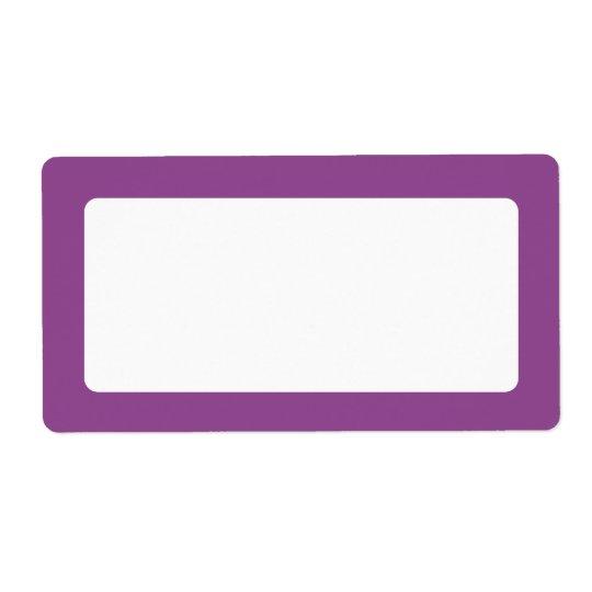Dark plum purple border blank